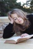 Grumpy teenage student Stock Photos