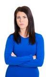 Grumpy woman Royalty Free Stock Photo