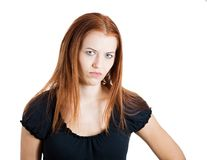 Grumpy woman Stock Image