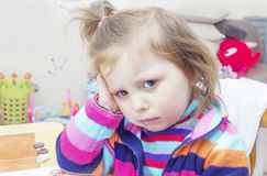 Grumpy young girl Stock Photo