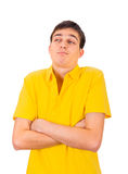 Grumpy Young Man Royalty Free Stock Photos