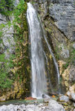 Grunars waterfall near Theth - cfull picture. A picture of beautiful waterfall & x22;Grunars Waterfall& x22; near the Albanian village of Theth & x28;Thethi& x29 Stock Photography