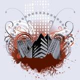 вектор grunce города Стоковое Изображение RF