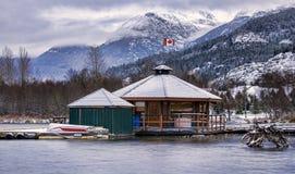 Grund för nivå för WhistlerluftFloat på den gröna laken Royaltyfri Foto