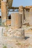 Grund för Persepolis Apadana slottkolonn Royaltyfria Foton