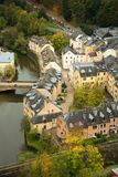 Grund medieval city in Luxembourg in Europe Stock Photos