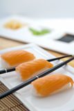 Grund Nigiri-Sushi Lizenzfreies Stockfoto
