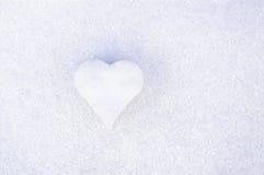 grund snow för djupfälthjärta Royaltyfri Foto