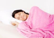 grund sova kvinna för djupfält Arkivbilder