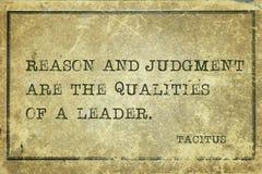 Grund und Urteil Tacitus stockbild