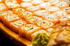 grunda sushi för dof-set arkivfoto