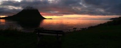 Grundarfjordur, West-Island Stockbilder