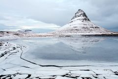 Grundarfjorour famous mountain iceland Royalty Free Stock Photo