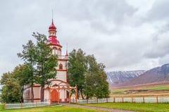 Grundarkirkja Akureyri Noord-IJsland royalty-vrije stock foto's