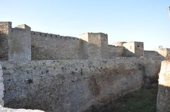 Grundat i århundradet VI F. KR. Milesian greker på munnen av den djupa Tirasen Dniester, Belgorod-Dniester som då kallas Arkivbild