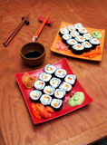 Grundavocado maki Sushi Lizenzfreies Stockfoto