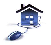 Grundbesitz auf dem Internet Stockfotos