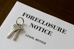 Grundbesitz-Ausgangsverfallserklärung-gesetzliche Kündigungsfrist und Tasten Lizenzfreie Stockfotos
