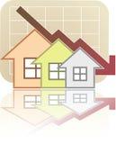 Grundbesitz-Diagramm unten Lizenzfreie Stockbilder