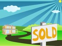 Grundbesitz für Verkauf Stockfotografie