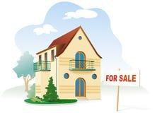 Grundbesitz für Verkauf. Vektor Stockbild