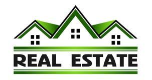 Grundbesitz-grüne Häuser Stockbilder