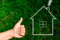 Grundbesitz? Häuser, Ebenen für Verkauf oder für Miete Lizenzfreies Stockfoto