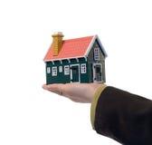 Grundbesitz - Haus in der Hand Stockbilder