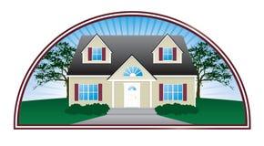 Grundbesitz-Haus-Emblem Stockfoto