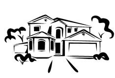 Grundbesitz, Konzeptabbildung Stockfoto