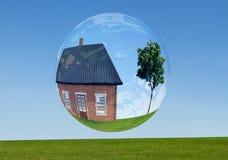 Grundbesitz Luftblase stockbilder