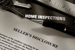 Grundbesitz-Verkäufer-Datenübermittlungs-Anweisung Stockbild