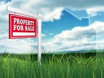 Grundbesitz-Zeichen - Eigentum für Verkauf Stockfotografie