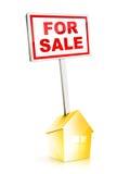 Grundbesitz-Zeichen - für Verkauf Stockbild