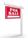 Grundbesitz-Zeichen - für Verkauf Stockfoto