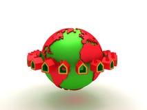 Grundbesitzhaus um die Welt Stockbilder