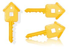 Grundbesitzkonzept mit Haustaste -   Stockbilder