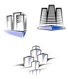 Grundbesitzsymbole stock abbildung