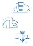 Grundbesitzsymbole lizenzfreies stockfoto