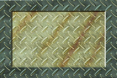 Grunde Metal Background with frame Royalty Free Stock Photo