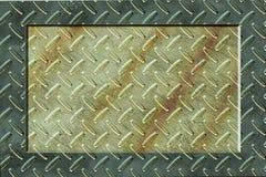 Grunde Metallhintergrund mit Feld Lizenzfreies Stockfoto