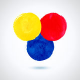 Grunde paint circles. Royalty Free Stock Photos