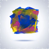 Grunde paint square. Royalty Free Stock Photos