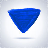 Grunde paint triangle. Royalty Free Stock Images