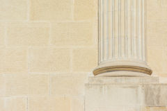 Grundfundament av Roman Column Arkivbilder