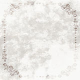 Grundge White Sheet with floral frame Royalty Free Stock Photos