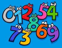 Grundläggande grupp för nummertecknad filmtecken vektor illustrationer