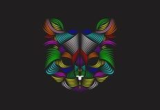 Grundläggande linje Art Cat Illustration Arkivfoton