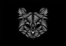 Grundläggande linje Art Cat Illustration Royaltyfri Foto