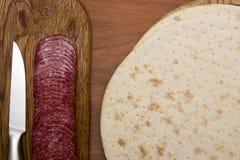 Grundläggande produkter för pizza arkivbilder